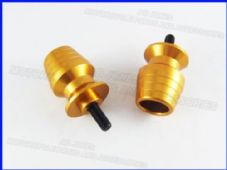 Paddock stand bobbins / swing arm spools CNC 8mm gold